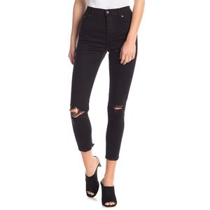 Levi's Wedgie Soft Skinny Ripped Jeans Black NWT